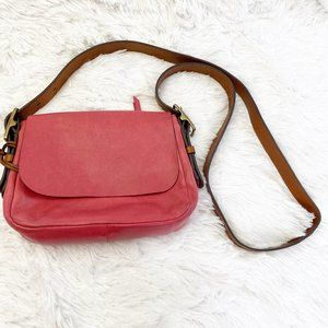 Fossil Red Small Crossbody Bag Adjustable Strap